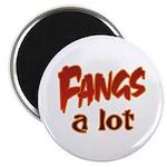 Fangs A Lot Halloween Costume Magnet