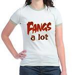 Fangs A Lot Halloween Costume Jr. Ringer T-Shirt
