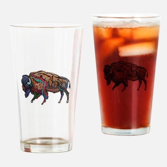 BISON Drinking Glass