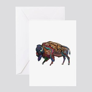 BISON Greeting Cards