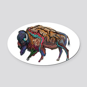 BISON Oval Car Magnet