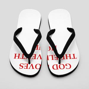 god Flip Flops