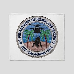 homelandmiami.png Throw Blanket