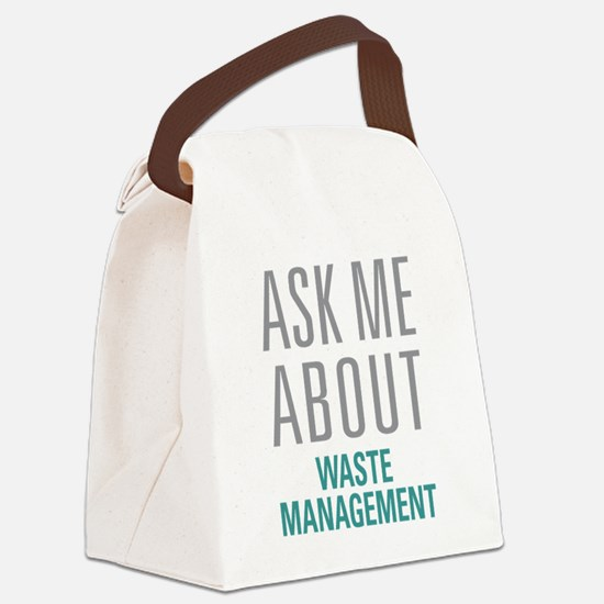 Waste Management Canvas Lunch Bag