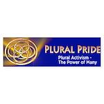 Plural Pride Bumper Sticker - The Power Of Many!