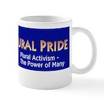 Plural Pride Blue & Gold Logo Mugs