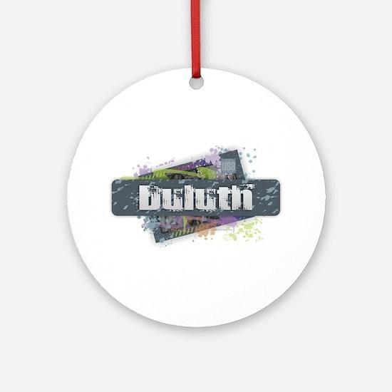 Duluth Design Round Ornament