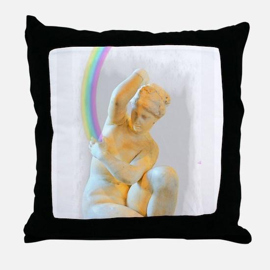 Rainbow Goddess Throw Pillow