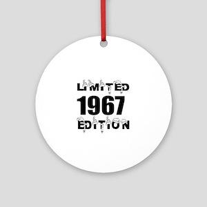 Limited 1967 Edition Birthday Desig Round Ornament