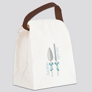 Eat Cake Canvas Lunch Bag