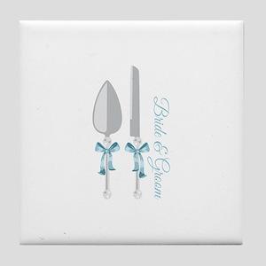 Bride & Groom Tile Coaster