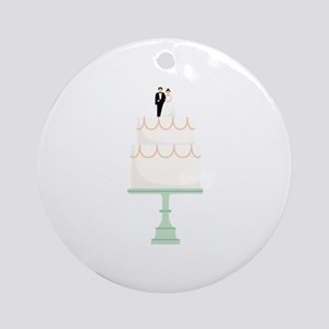 Wedding Cake Round Ornament