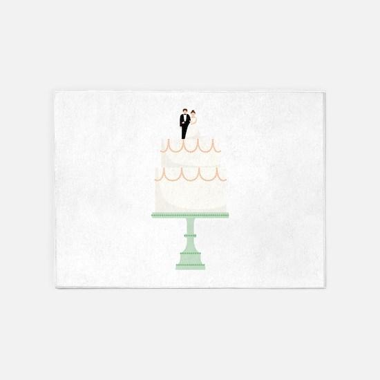Wedding Cake 5'x7'Area Rug