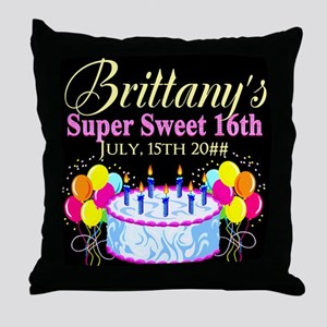 CUSTOM 16TH Throw Pillow