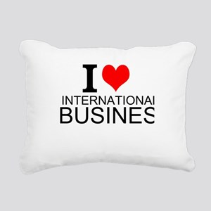 I Love International Business Rectangular Canvas P