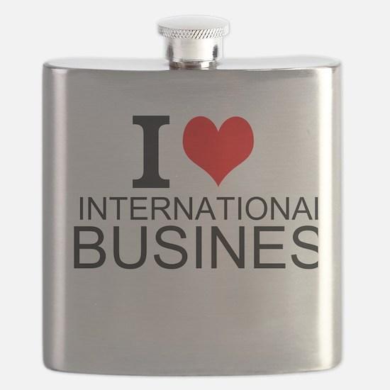 I Love International Business Flask