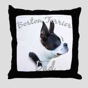 Boston Dad2 Throw Pillow