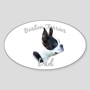 Boston Dad2 Oval Sticker