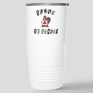 I Love My Beaver Mugs