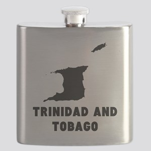 Trinidad and Tobago Silhouette Flask