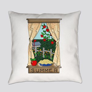 Kitchen Window View of Summer Scen Everyday Pillow