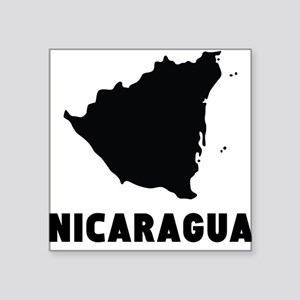 Nicaragua Silhouette Sticker