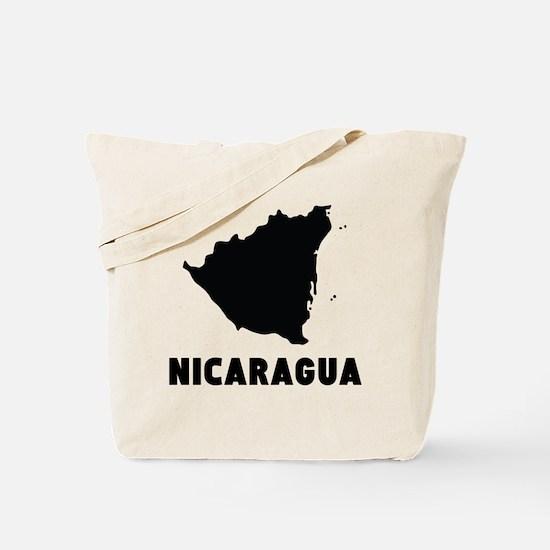 Nicaragua Silhouette Tote Bag