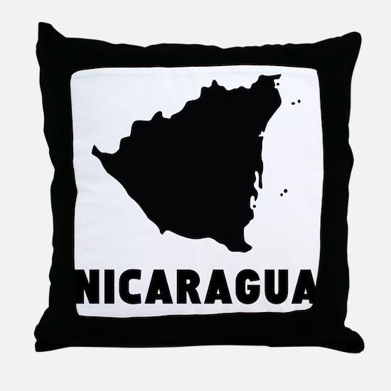 Nicaragua Silhouette Throw Pillow