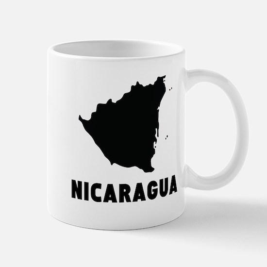 Nicaragua Silhouette Mugs