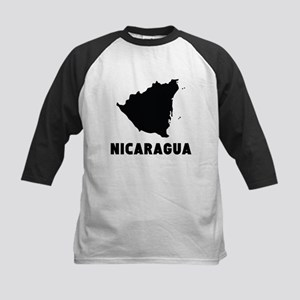 Nicaragua Silhouette Baseball Jersey