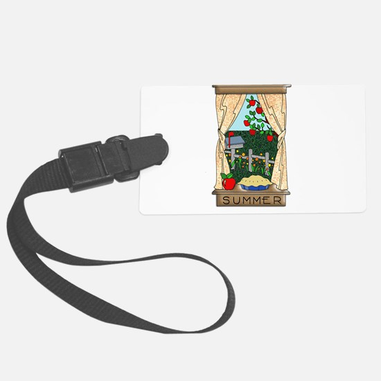 Kitchen Window View of Summer Sc Luggage Tag