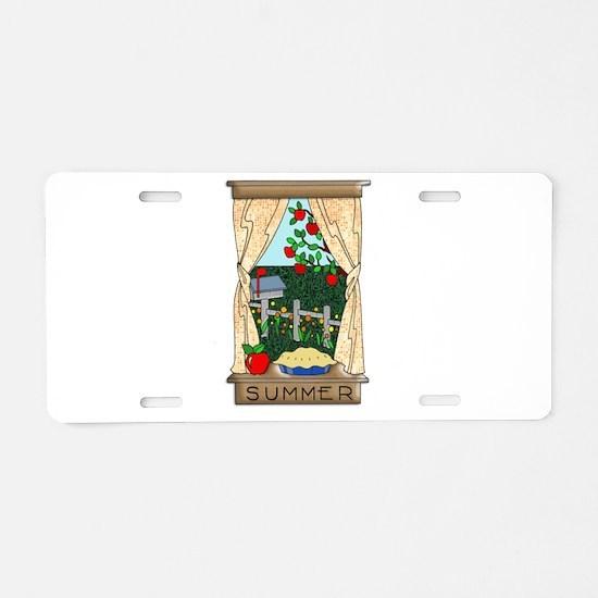 Kitchen Window View of Summ Aluminum License Plate