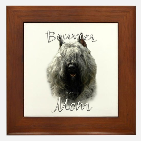 Bouvier Mom2 Framed Tile