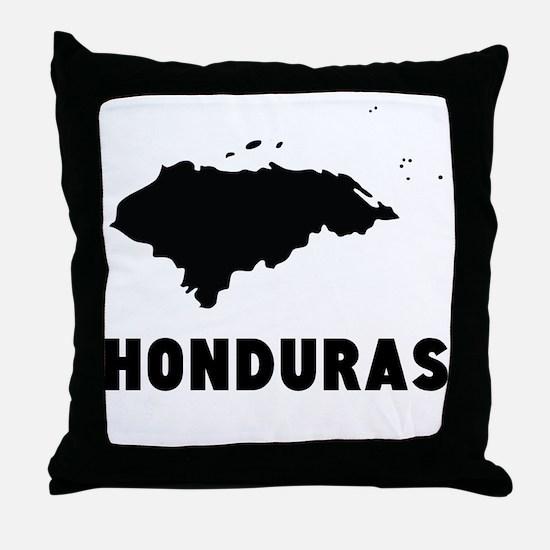 Honduras Silhouette Throw Pillow