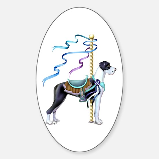 Great Dane Mantle UC Carousel Oval Decal