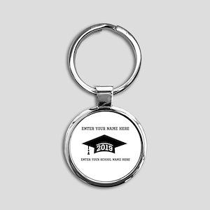 Class 2019 Round Keychain Keychains