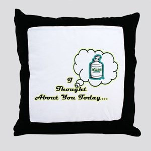 Lube Thoughts Throw Pillow