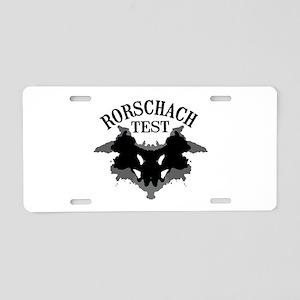 Rorschach Test Aluminum License Plate
