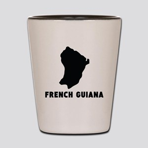French Guiana Silhouette Shot Glass