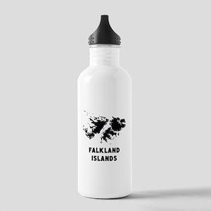 Falkland Islands Silhouette Water Bottle