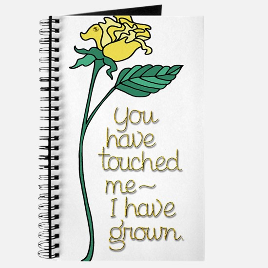 Single Yellow Rose with Sentiment Journal