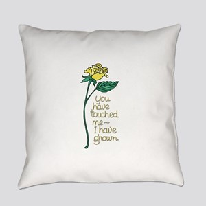 Single Yellow Rose with Sentiment Everyday Pillow