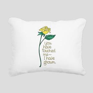 Single Yellow Rose with Rectangular Canvas Pillow