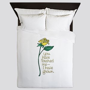 Single Yellow Rose with Sentiment Queen Duvet