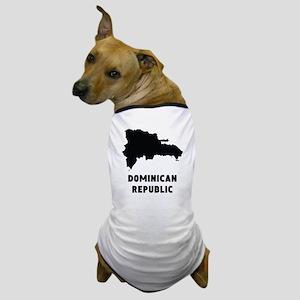 Dominican Republic Silhouette Dog T-Shirt