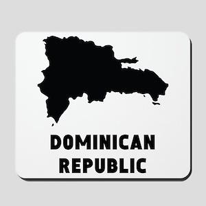 Dominican Republic Silhouette Mousepad
