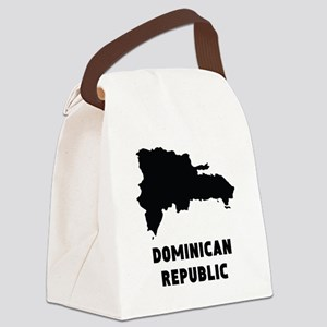 Dominican Republic Silhouette Canvas Lunch Bag