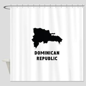 Dominican Republic Silhouette Shower Curtain