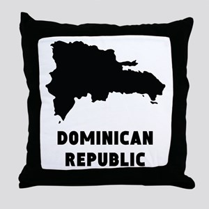 Dominican Republic Silhouette Throw Pillow