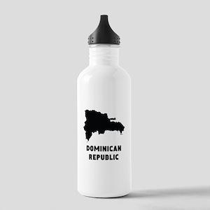 Dominican Republic Silhouette Water Bottle